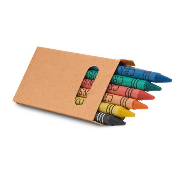 REF. 91754-Caixa de cartão com 6 gizes de cera