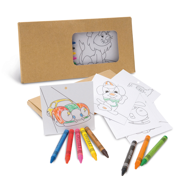 REF.91755-Kit para pintar em caixa de cartão