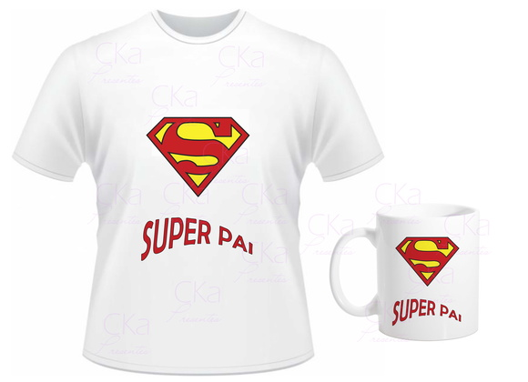 KIT CAMISETA SUPER PAI