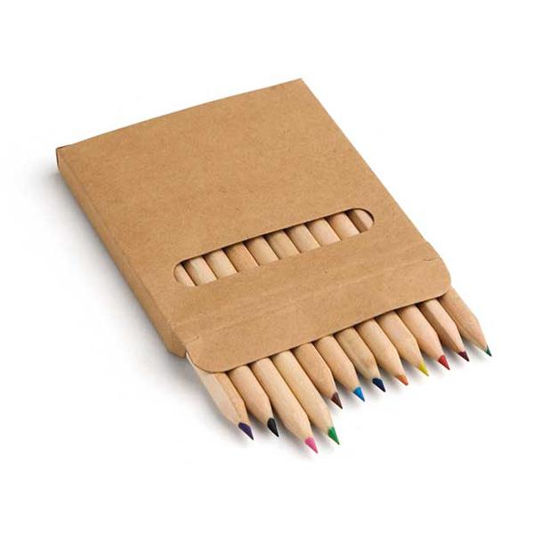REF.91747-Caixa de cartão com 12 lápis de cor
