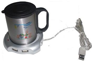 CANECA DE CAFÉ COM BASE USB