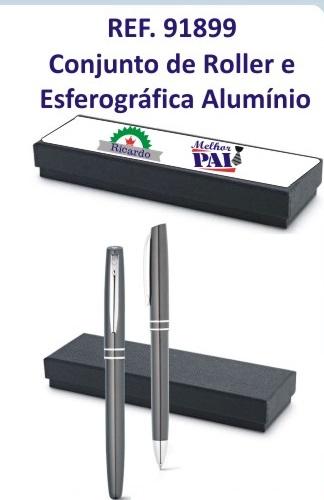 REF.91899-Conjunto de roller e esferográfica-GRAVAÇÃO COM NOME DO PAI A LASER