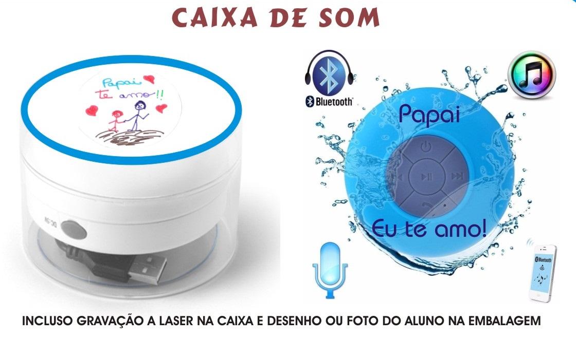 CAIXA DE SOM A PROVA D'AGUA COM BLUETOOTH