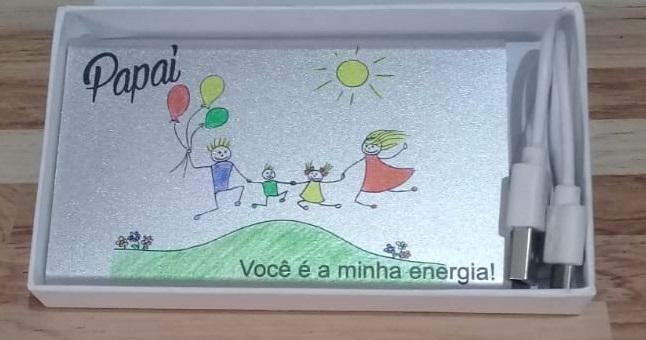 REF.2012 -CARREGADOR DE CELULAR (POWER BANK  DE METAL)