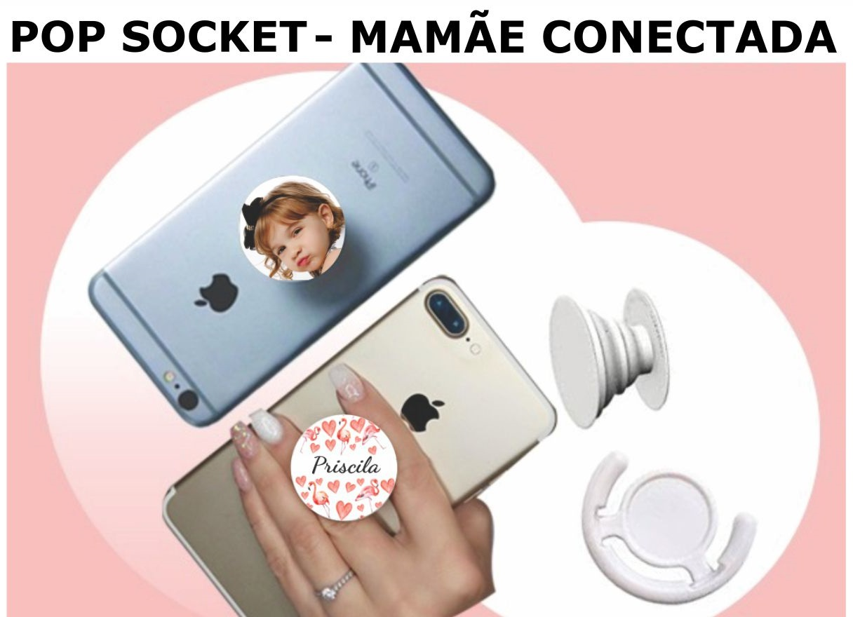 POP SOCKET -COM FOTO OU NOME