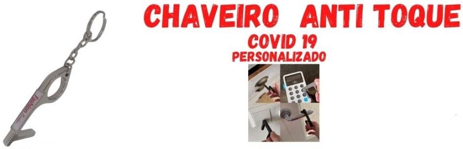 CHAVEIRO DE METAL  ANTI TOQUE- COVID 19
