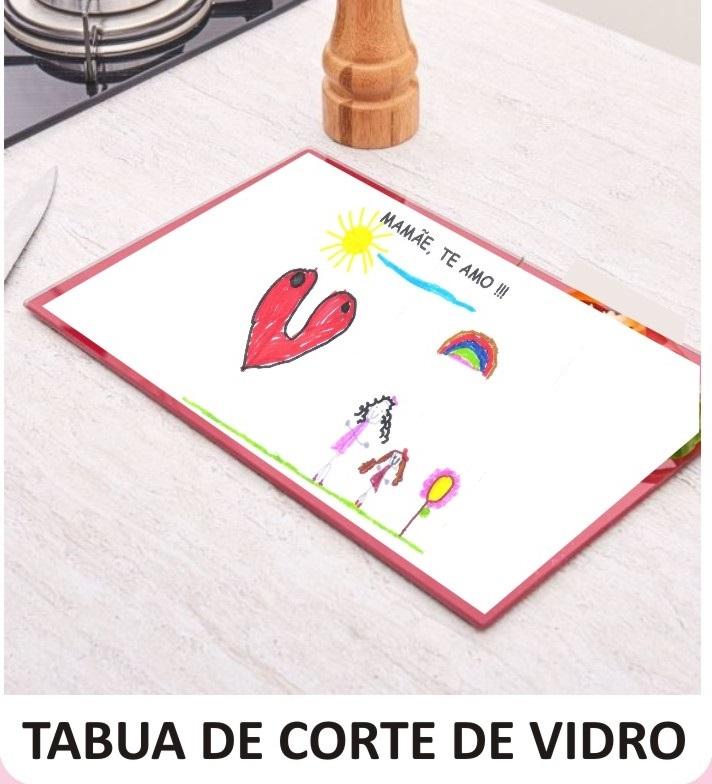 TÁBUA DE CORTE DE VIDRO