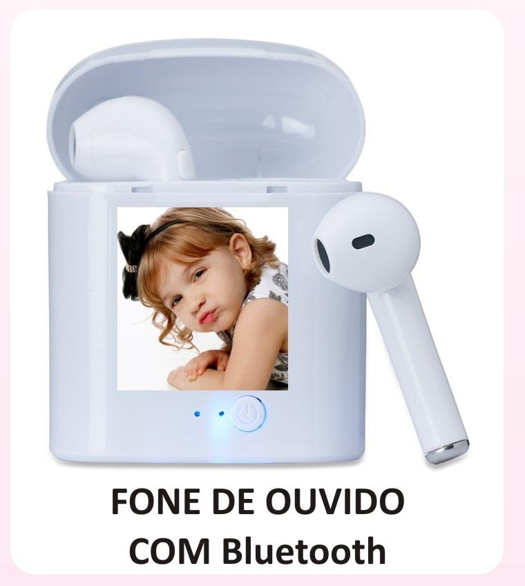FONE DE OUVIDO SEM FIO COM BLUETOOTH